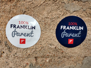"""100% Franklin Parent"" Sticker"