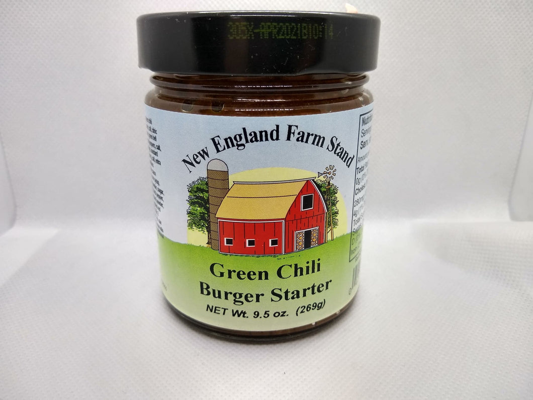 New England Farm Stand- Green Chili Burger Starter