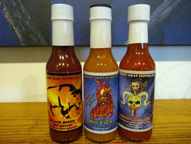Angry Goat Pepper Co - Hottest Sauces 3-Pack