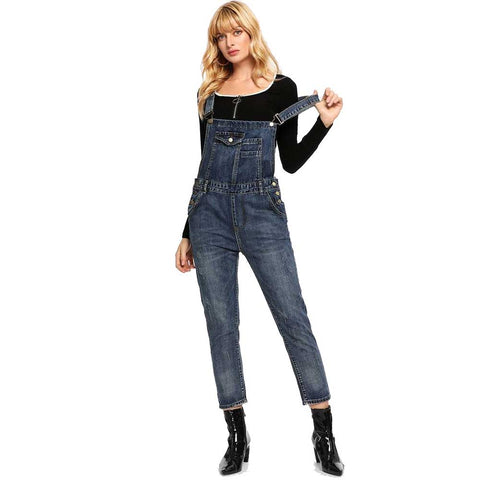 Women's Denim Overalls
