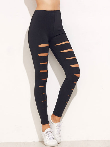 Cut Out Skinny Leggings