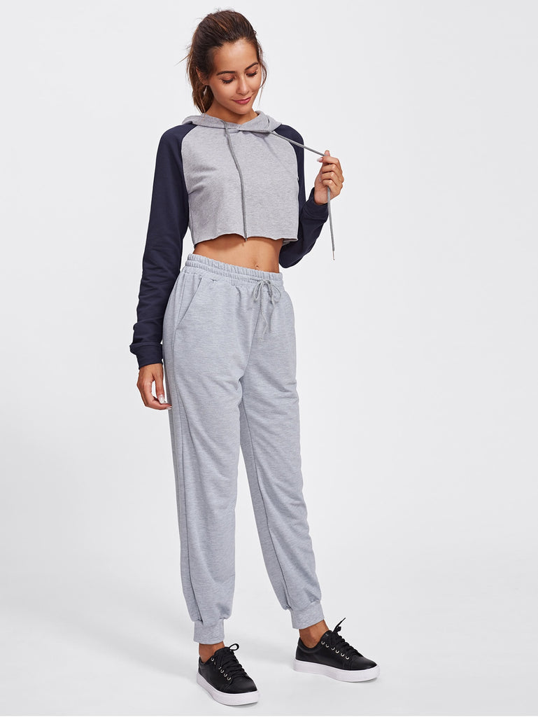 Drawstring Marled Sweatpants