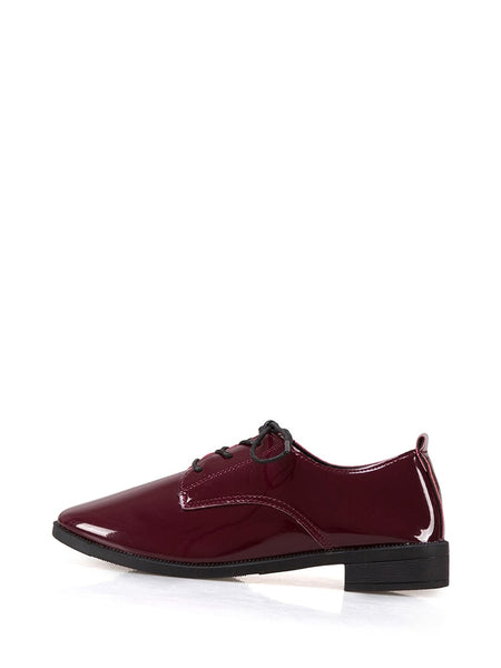 Lace Up Patent Leather Oxford