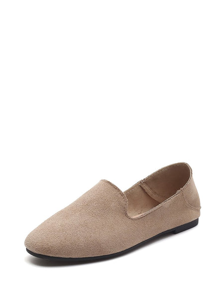 Suede Flat Loafers