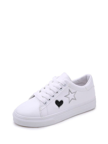 Star Embroidered Low Top Sneakers