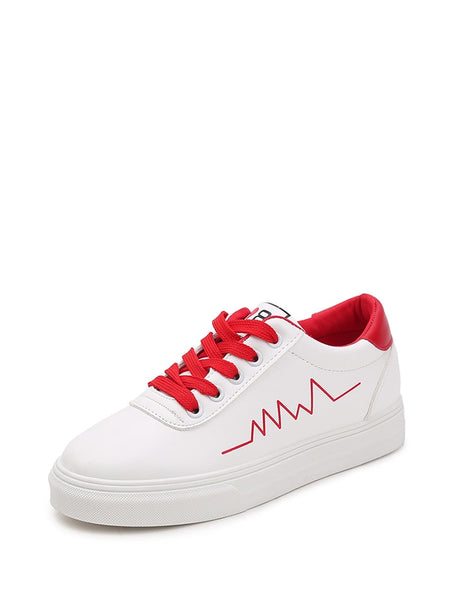 Lace Up Low Top Sneakers