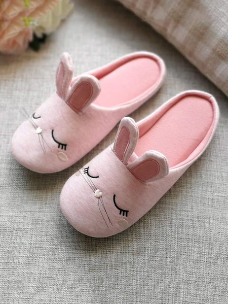 Rabbit Ear Flat Slippers