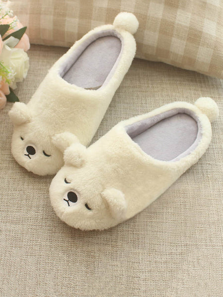 Fluffy Bear Slippers