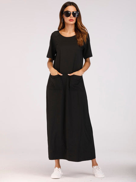Dual Pocket Longline Dress