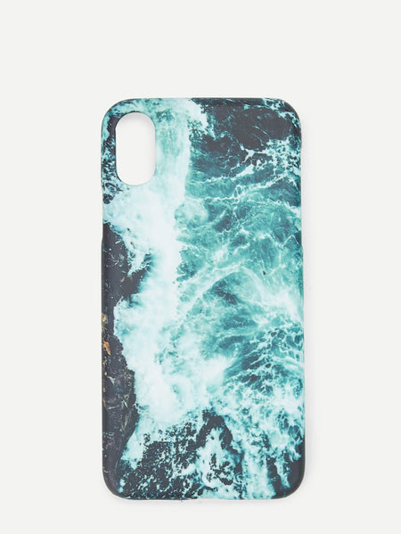 Waves Print iPhone Case
