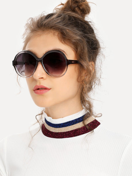 Round Mirror Lens Sunglasses