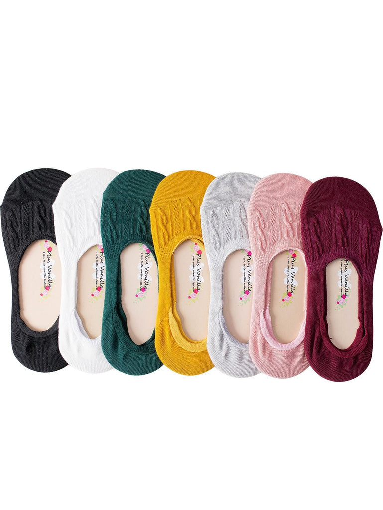 Cable Knit Invisible Socks 7pairs