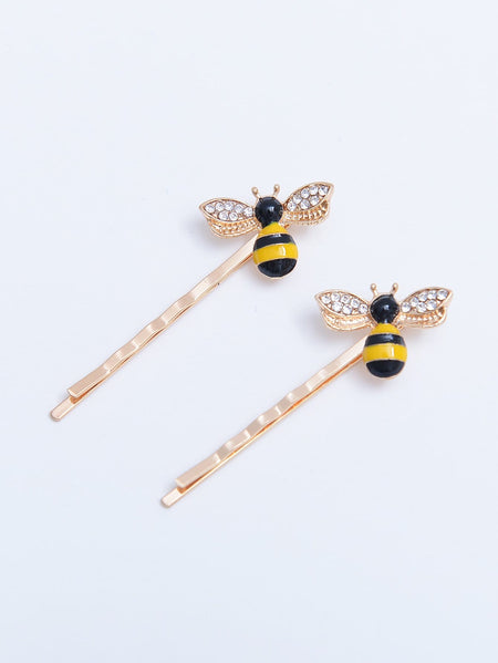 Bee Decorated Hair Clip 2pcs