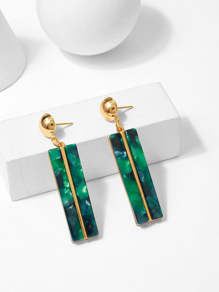 Bar & Ball Design Drop Earrings 1pair