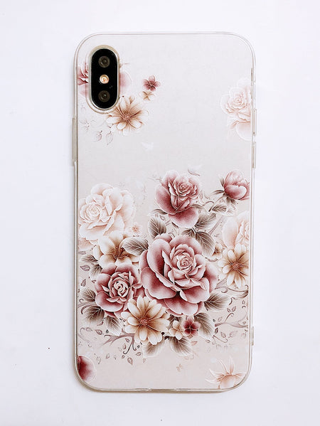 Rose Print iPhone Case