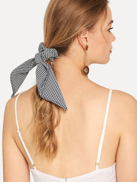 Gingham Knot Hair Tie