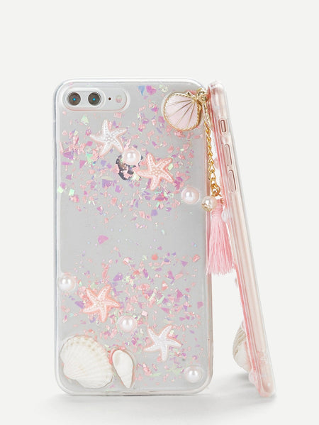Shell & Tassel Pendant iPhone Case