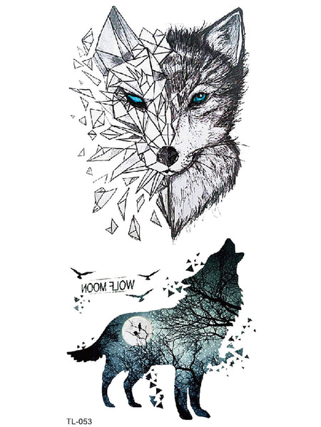 Wolf Pattern Tattoo Sticker