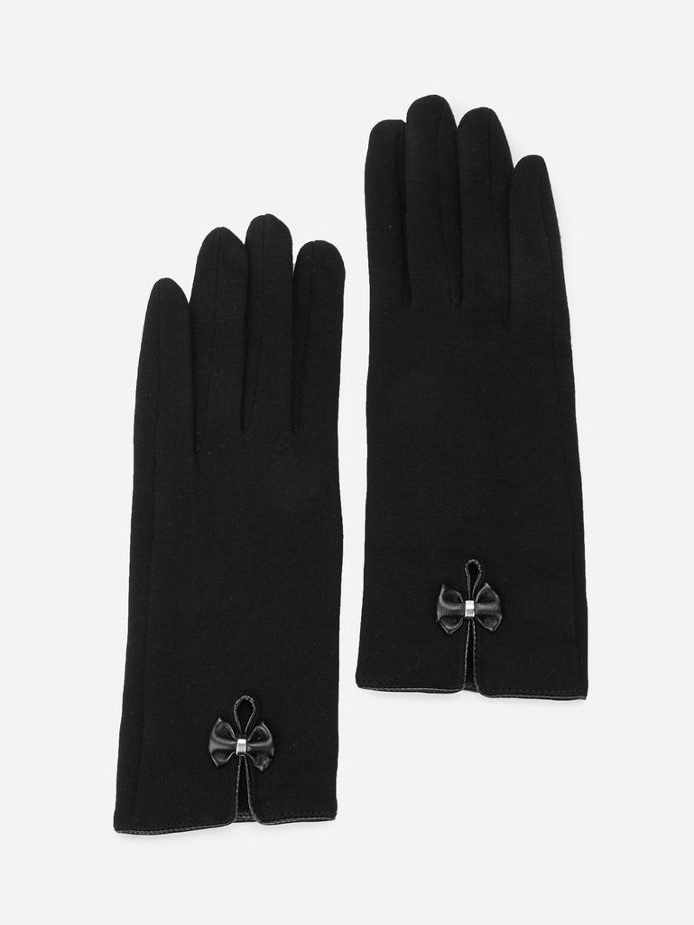 Bow Decorated Gloves