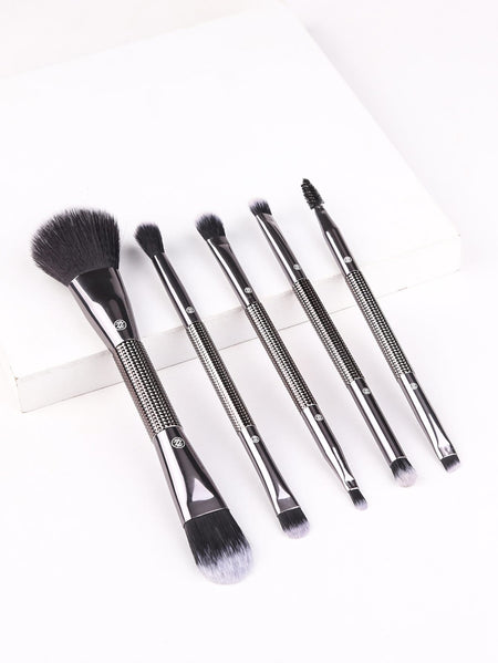 Two Head Makeup Brush Set With Glitter Bag