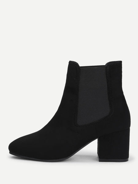 Elastic Ankle Boots