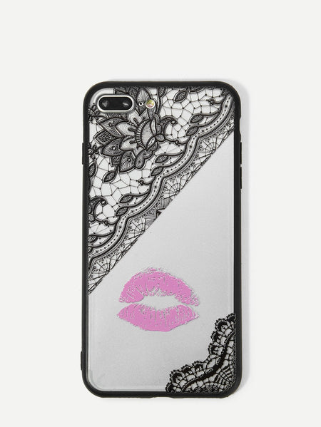 Lip Print iPhone Case