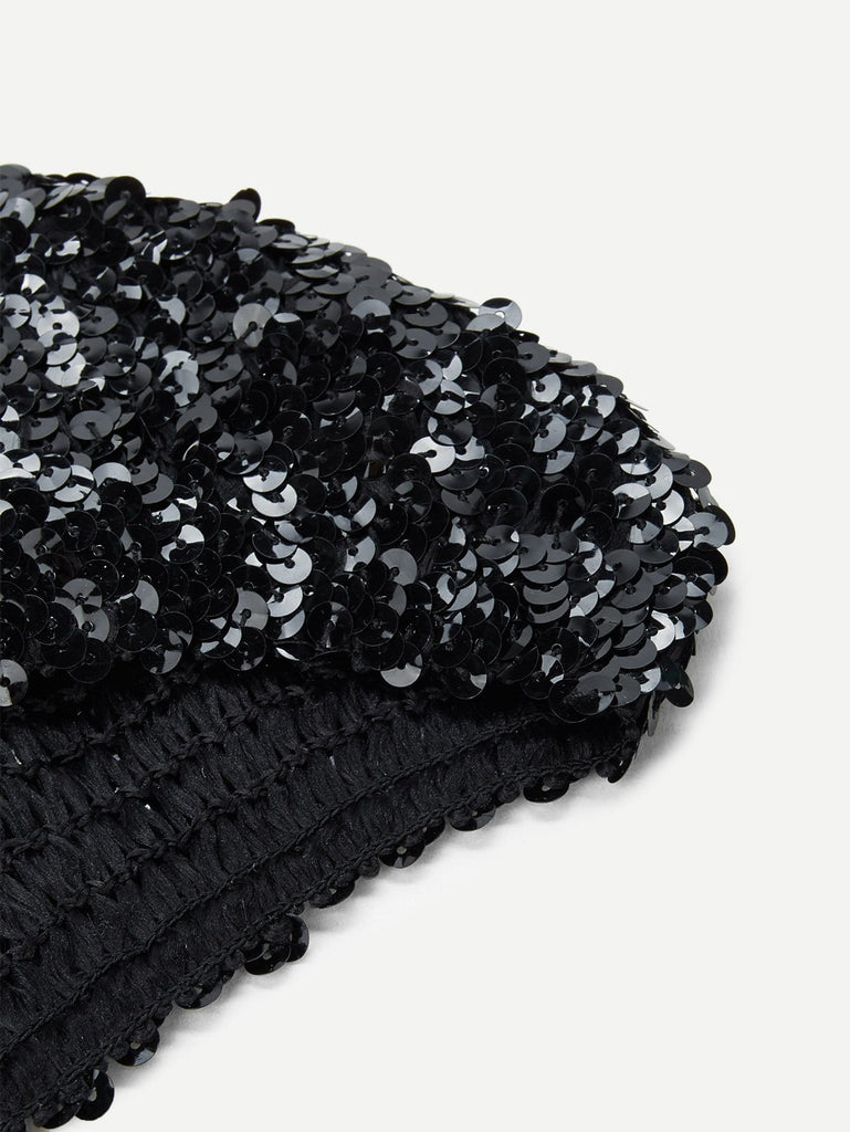 Sequin Decorated Beret Cap