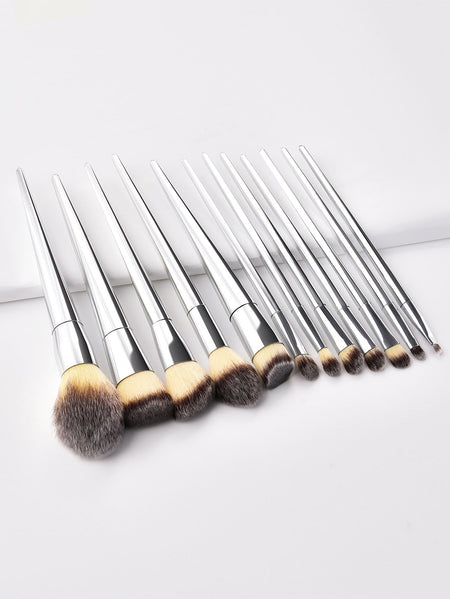 Metallic Makeup Brush 12pcs