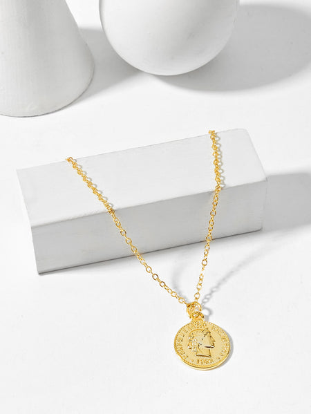 Coin Pendant Chain Necklace