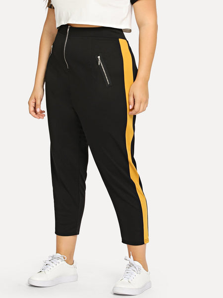 Plus Zip Decoration Pant