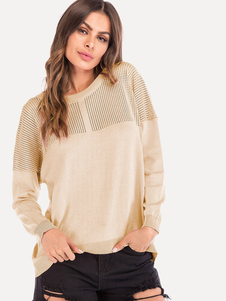 Cut Out Solid Jumper