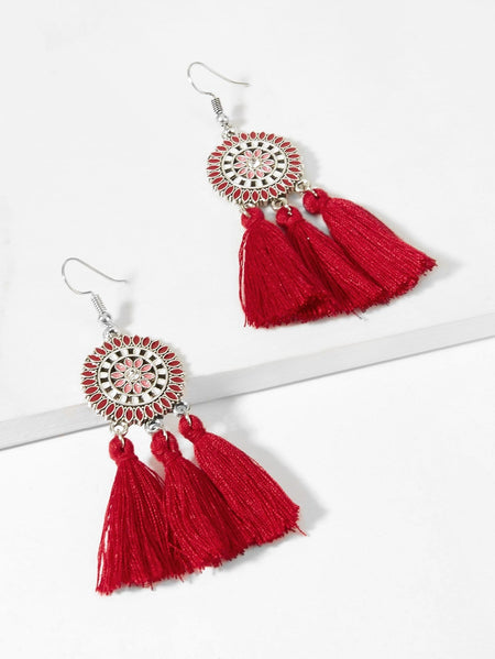 Tassel Sector Drop Earrings 1pair