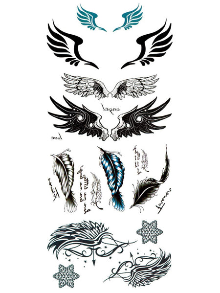 Wing & Feather Tattoo Sticker