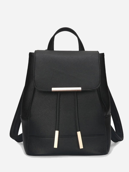 Flap PU Backpack