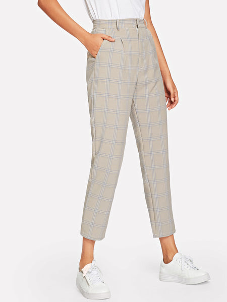 Plaid Pocket Side Pants