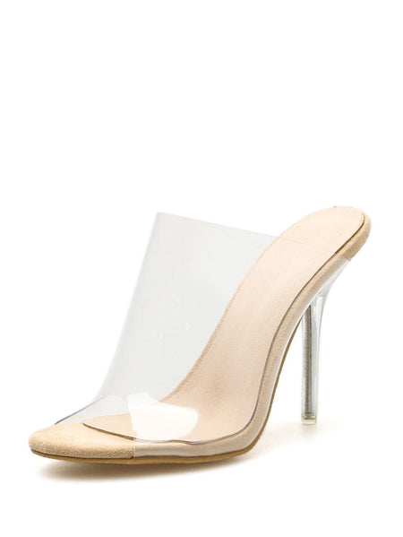 Peep Toe Clear Heels
