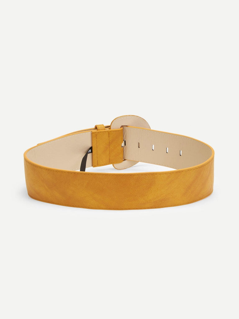 Plain D-Shaped Buckle Belt