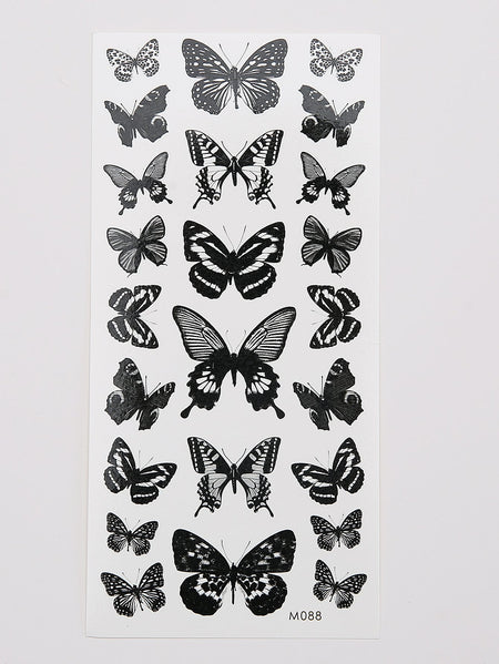 Butterfly Pattern Tattoo Sticker