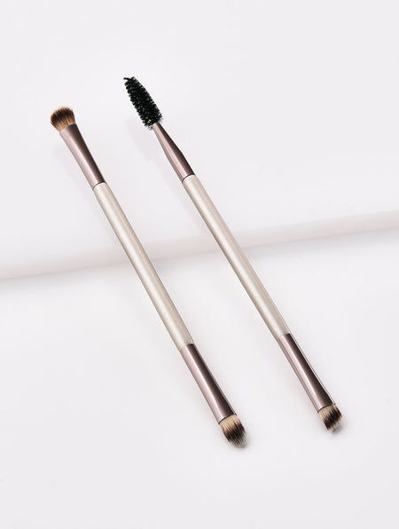 Double Head Eyebrow & Eyelash Brushes 2pcs