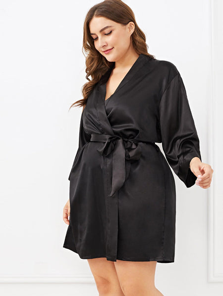 Plus Self Belted Knot Robe