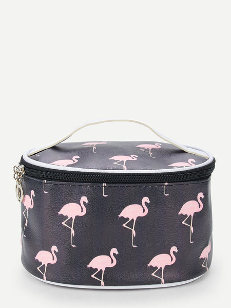 Flamingo Pattern Makeup Bag