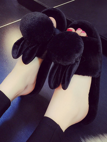 Cute Ear Fluffy Slippers
