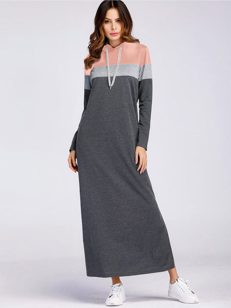 Color-Block Split Side Dress