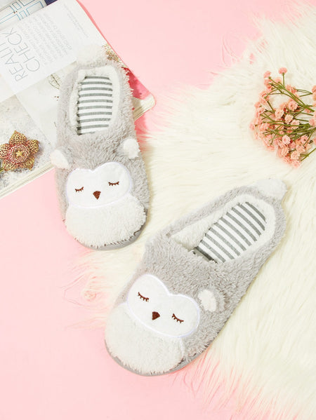 Fluffy Owl Slippers