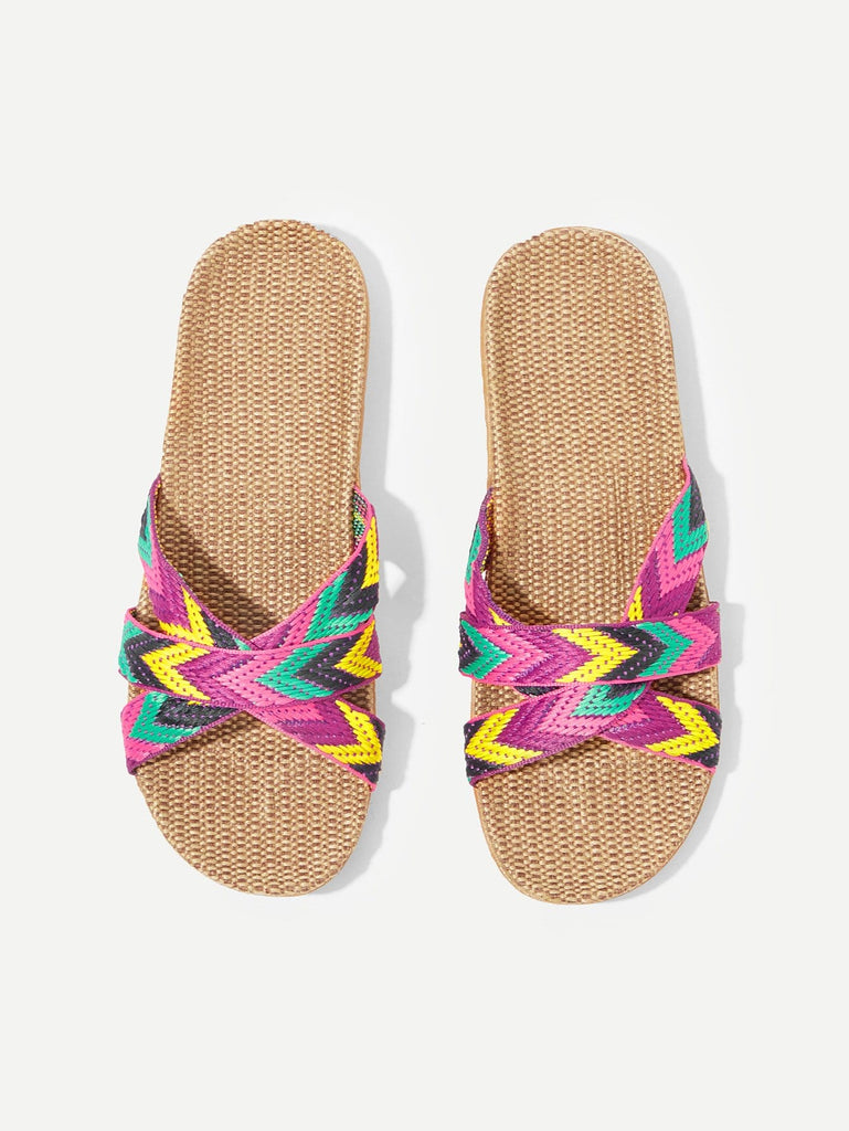 Zigzag Pattern Flat Sliders
