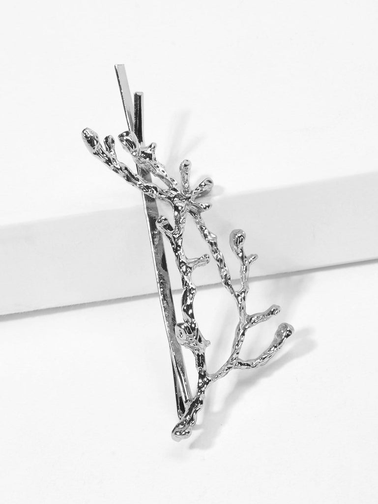 Branches Decorated Hair Clip