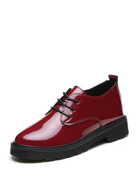 Lace Up Patent Leather Oxfords