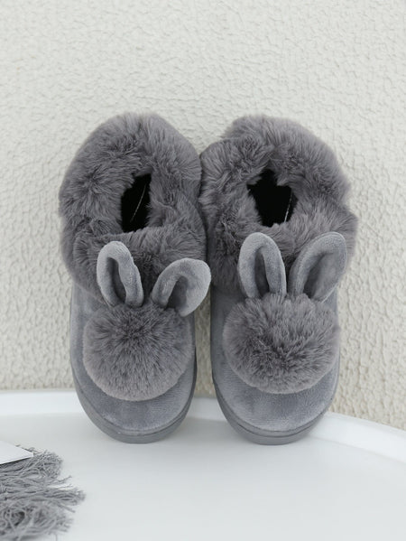 Rabbit Design Fuzzy Slippers