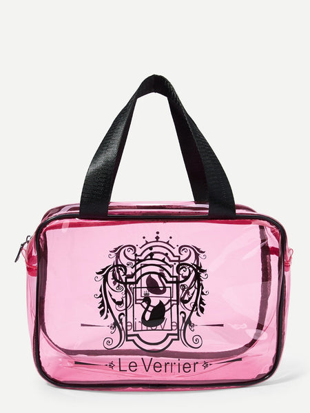 Double Handle Clear Makeup Bag