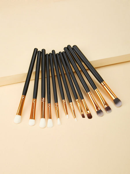 Two Tone Handle Makeup Brush With Case 8pcs